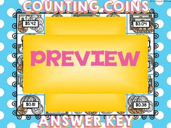 Counting Coins (Adding Money)