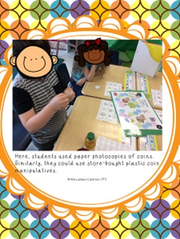 Counting Coins - Adding Pennies, Nickels, and Dimes - Board Game