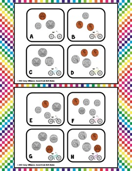 Counting Coins Around the Room - Values up to $1.00