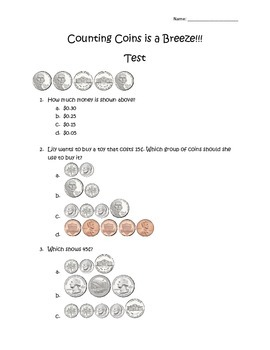 Counting Coins Assessment