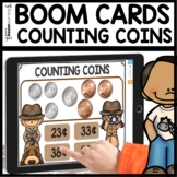Counting Coins using BOOM CARDS | Digital Task Cards