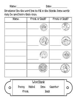 Counting Coins Basic -No Prep-