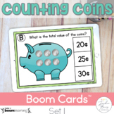 Counting Coins Boom Cards: Set 1