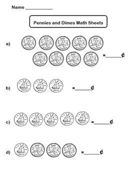Counting Coins (Canadian) Practice Sheets
