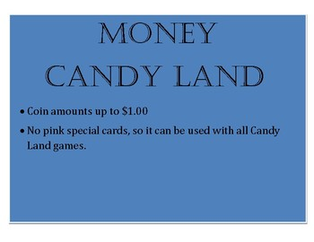 Counting Coins Candy Land