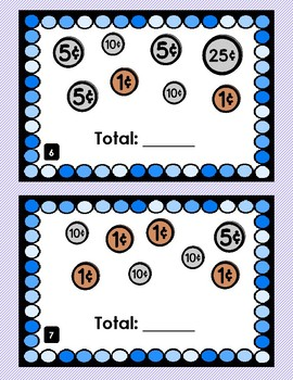 Counting Coins Center Task Cards
