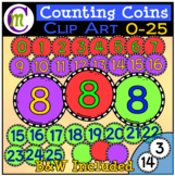 Counting Coins Clipart 0-25