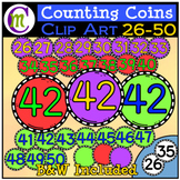 Counting Coins Clipart 26-50