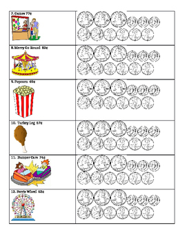 Counting Coins Coloring Sheet Free