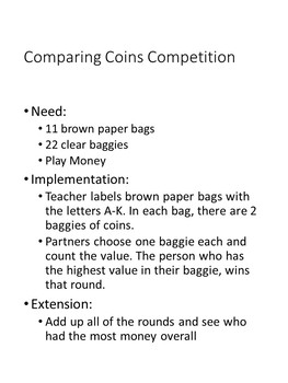 Counting Coins Competition (editable)