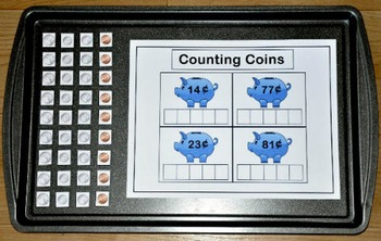 Counting Coins Cookie Sheet Activities