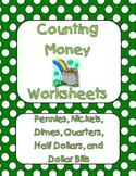 Counting Coins / Counting Money Practice Worksheets