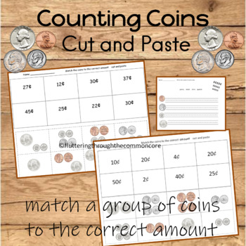 Counting Coins Cut and Paste