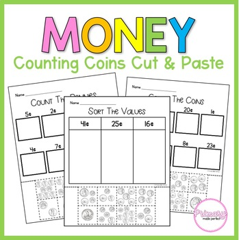 Counting Coins: Cut and Paste Activities