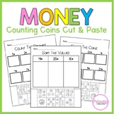 Money Worksheets | Cut and Paste Activities | 1st Grade Math