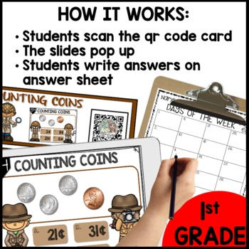Counting Coins DIGITAL TASK CARDS