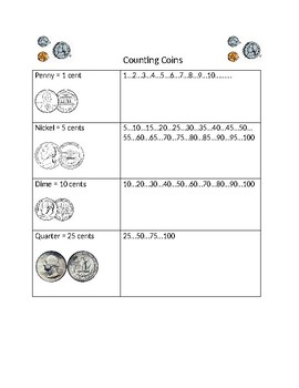 Counting Coins Desk Helper