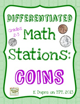 Money Math Stations