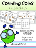 Counting Coins - Exit Tickets