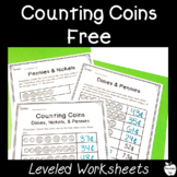 Counting Coins Worksheets FREEBIE! ~ Money ~ 1st/2nd Grade