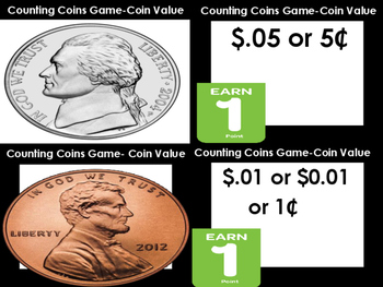 Counting Coins Game (50 Cards)