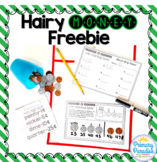 Counting Coins- Hairy Money Freebie