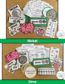 Counting Coins Interactive Pocketbook unit for Kindergarten and First Grade