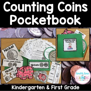 Counting Coins Interactive Pocketbook unit for Kindergarte