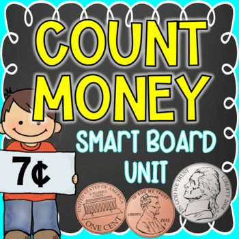 Counting Money Interactive SMART Board Unit {56 Slides}
