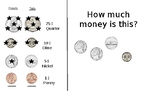 Counting Coins Less Than $1.00 (EASILY EDITABLE)