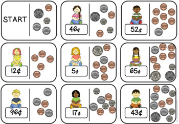 Counting Coins Loop Cards AMERICAN COINS VERSION