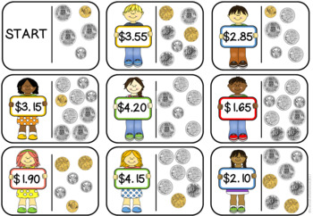 Counting Coins Loop Cards AUSTRALIAN COINS VERSION