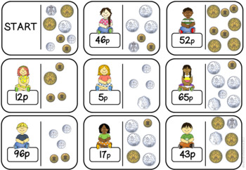 Counting Coins Loop Cards BRITISH COINS VERSION