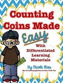 Counting Coins Made Easy:  Differentiated Materials and Word Problems