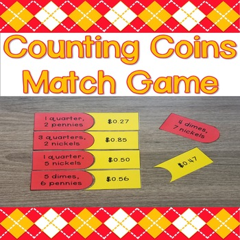 Counting Coins Match Game
