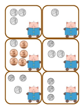 Counting Coins Matching Game