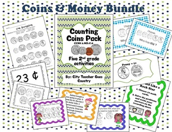 Counting Coins - Math Activities & Center Pack - 2nd Grade