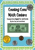 Counting Coins Math Centers for 2nd grade