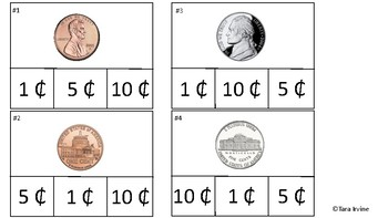 Counting Coins Math Task Cards