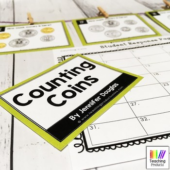 Counting Coins Math Task Cards Australian Money - Coins