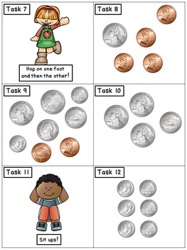 Counting Coins: Math Task Cards - Exercise Scoot!