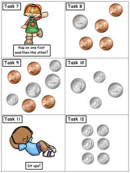 Counting Coins: Math Task Cards - Exercise Scoot! {dimes, nickels, and pennies}