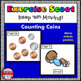 Counting Coins Math Task Cards Exercise Scoot