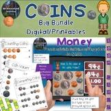 Counting Coins Money Big Bundle Worksheets Games & Digital