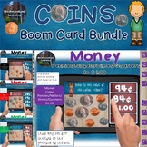 Counting Coins Money Digital Boom Cards Bundle
