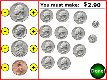 Counting Coins Money Practice Simulation