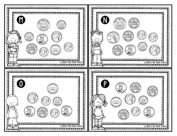 Counting Coins Money Scoot Activity Game