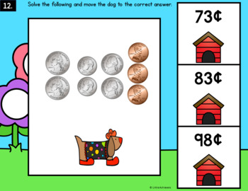 Counting Coins Money Task Cards - Identifying Coins