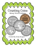 Counting Coins- Money Word Problems Center