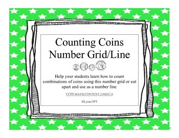 Counting Coins Number Grid/Line